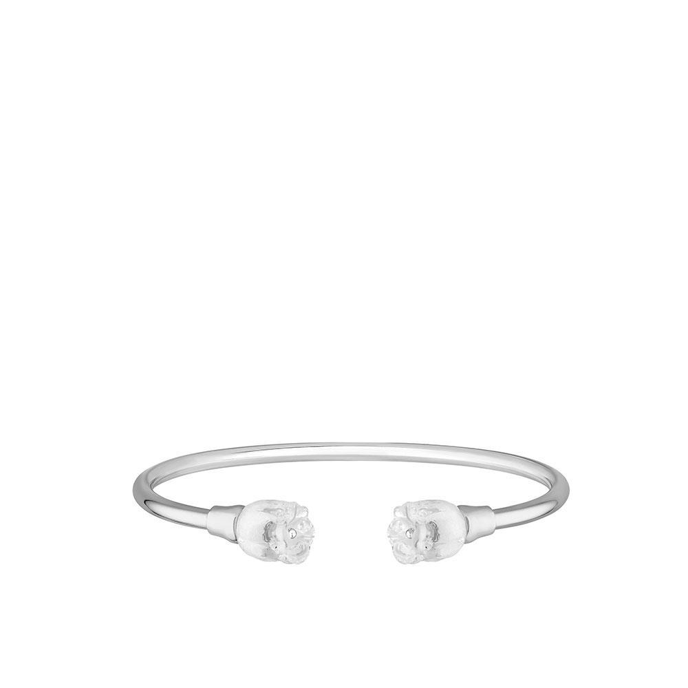 Muguet flexible bangle   Clear crystal, silver   Costume jewellery Lalique