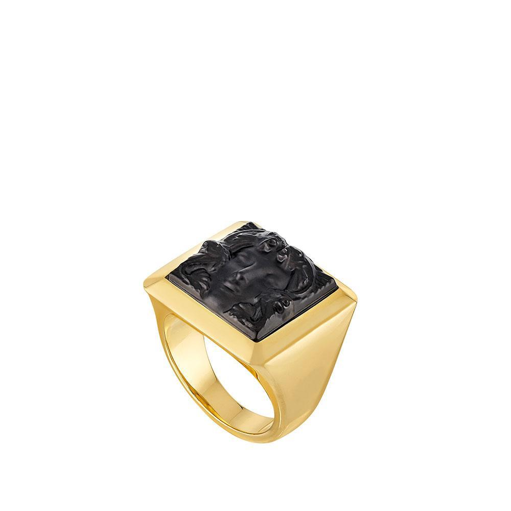 Arethuse ring   Black crystal, vermeil   Costume jewellery Lalique