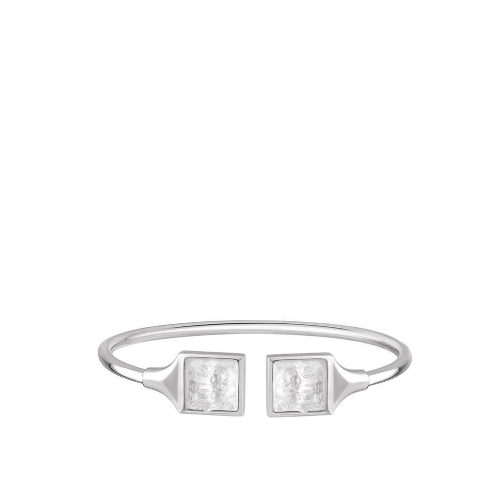 Arethuse flexible bangle | Clear crystal, silver | Costume jewellery Lalique