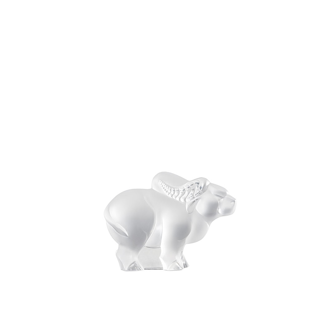 Ox small sculpture | Clear crystal | Lalique Sculpture