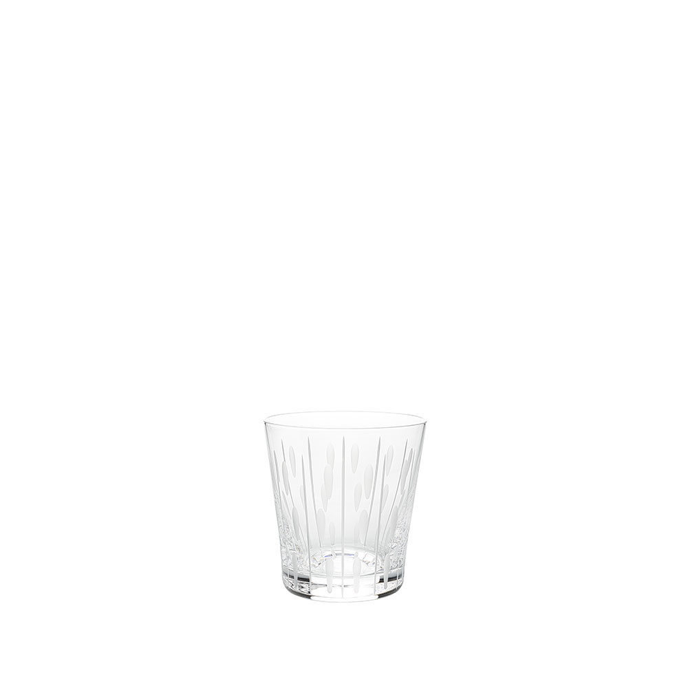 Lotus Drops tumbler | Clear crystal | Glass Lalique