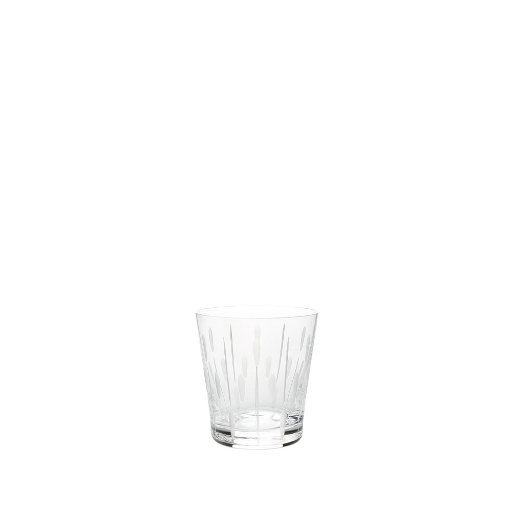 Lotus Dew tumbler | Clear crystal | Glass Lalique