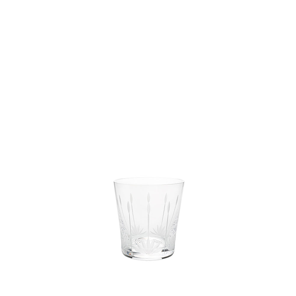 Lotus Blossoms tumbler | Clear crystal | Glass Lalique
