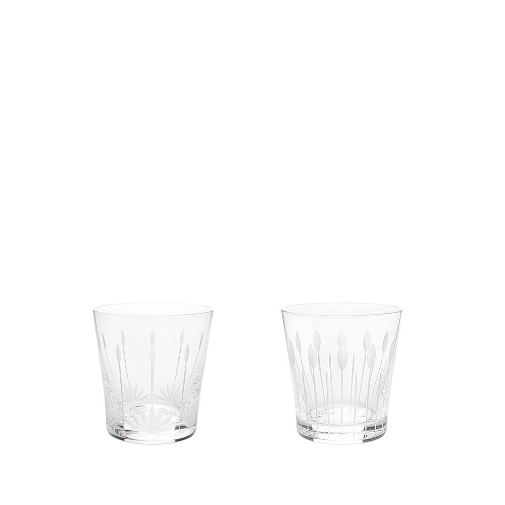 Lotus, 2 tumblers set | Clear crystal | Glass Lalique