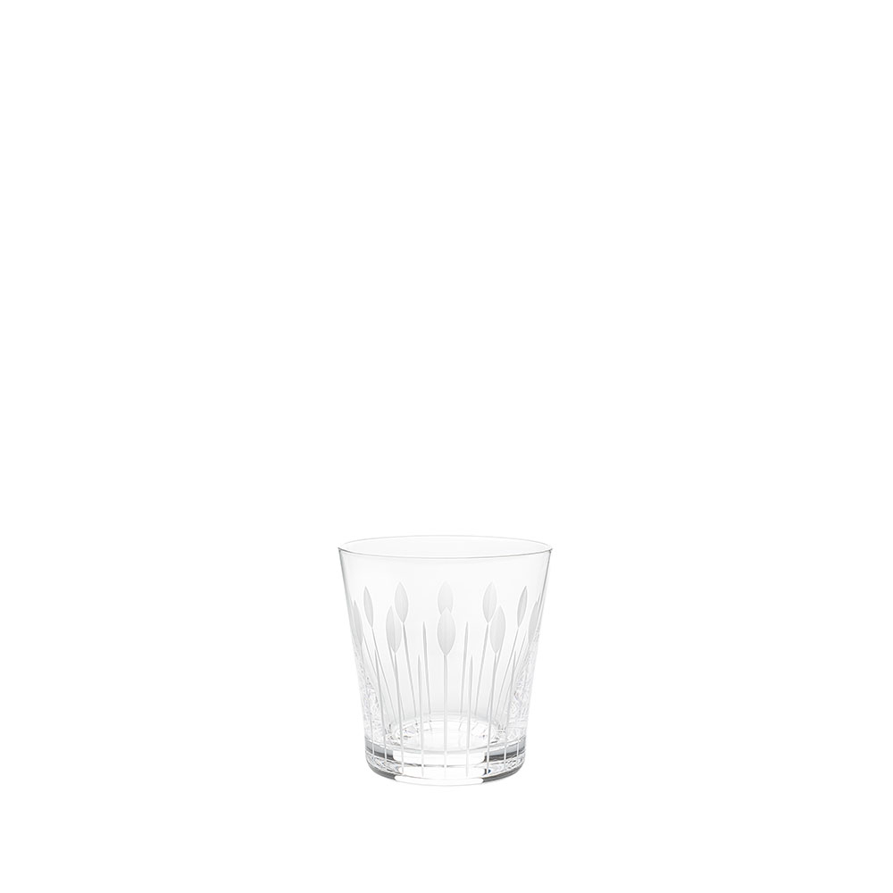 Lotus Buds tumbler | Clear crystal | Glass Lalique
