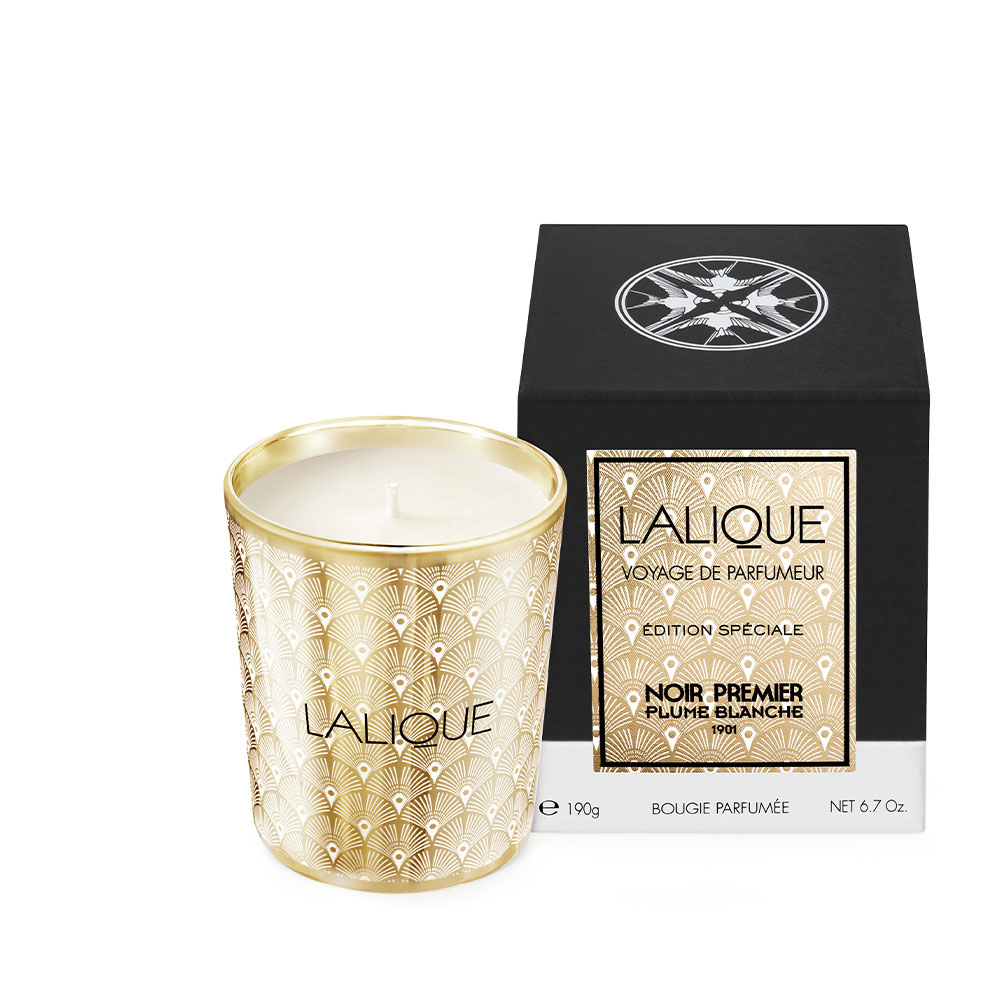 Plume Blanche 1901 - Special Edition, Scented Candle | 190 g (6.7 Oz.) | Lalique Parfums