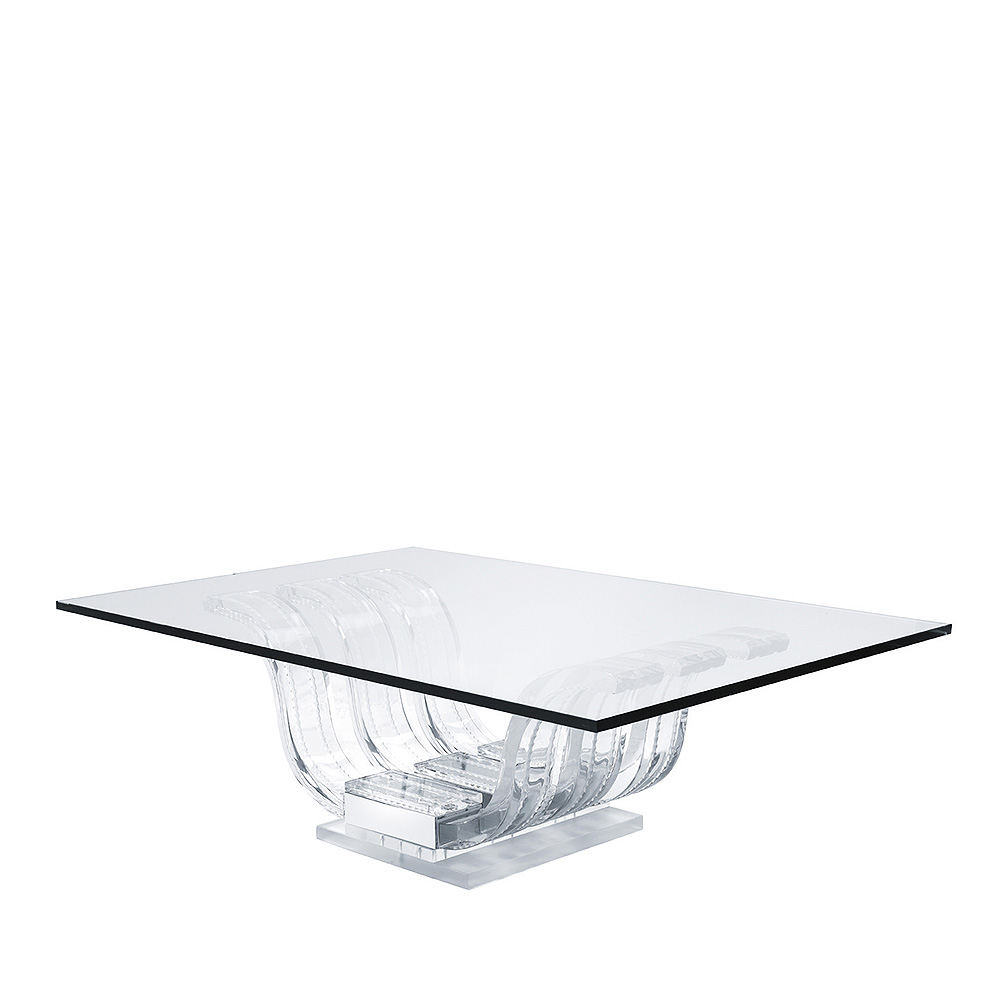 Perles d'Eau coffee table | Clear crystal | Interior Design Lalique