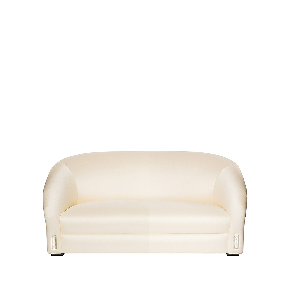 Raisins classic sofa | Numbered edition, clear crystal and silk | Sofa Lalique