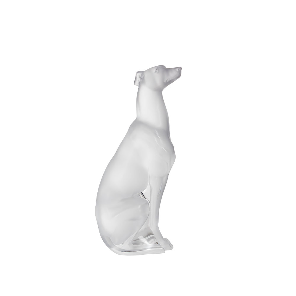 Greyhound sculpture | Clear crystal | Lalique Sculpture