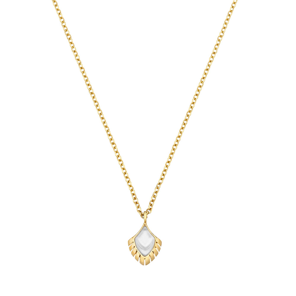 Paon Pendant   White pearly clear crystal   Lalique pendants