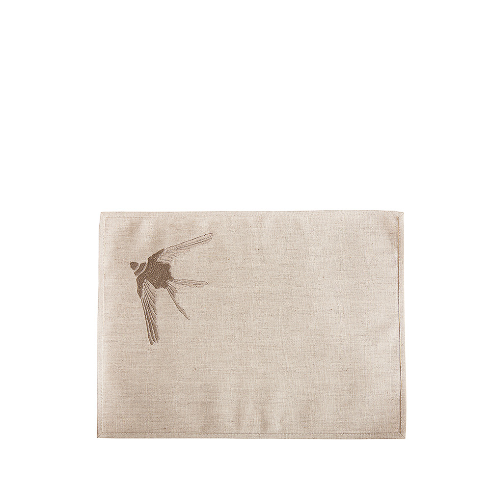 1 Hirondelle embroidered placemat