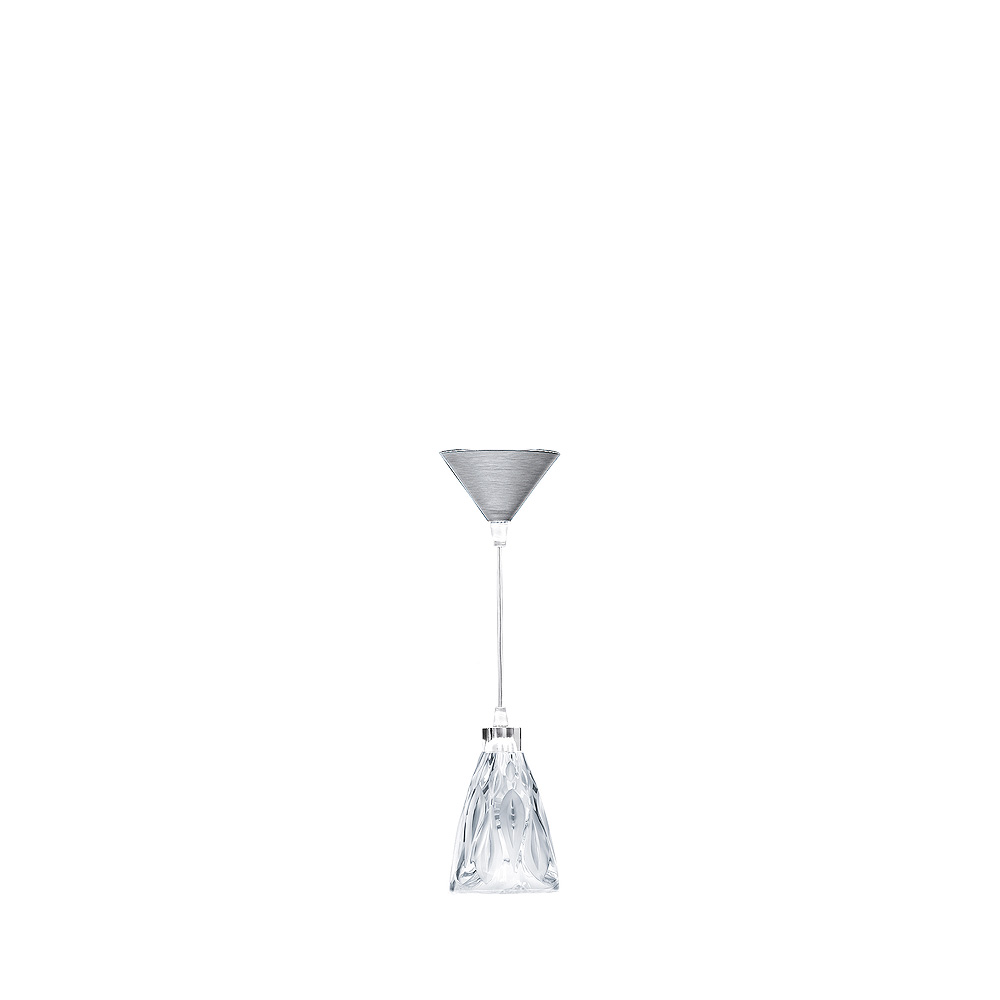 Vibration ceiling lamp   Clear crystal, chrome finish   Interior Design Lalique