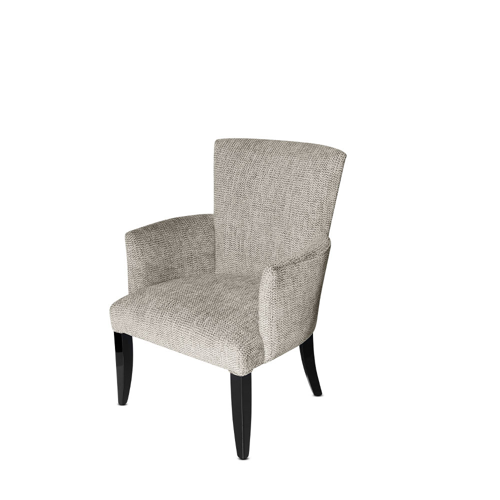 Masque de femme villa René Lalique contemporary armchair | Numbered edition, clear crystal, black lacquered and chenille medley | Armchair Lalique