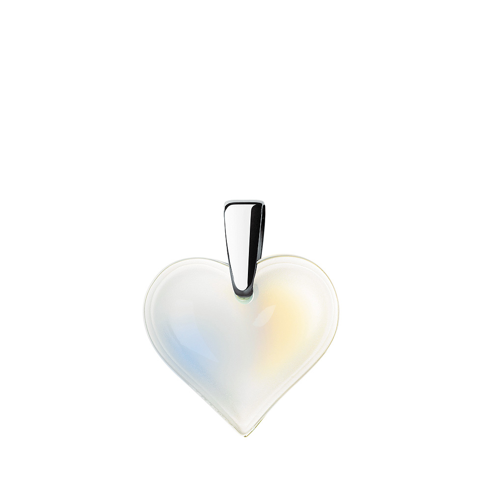 Amoureuse Beaucoup pendant   Opalescent crystal, silver   Costume jewellery Lalique